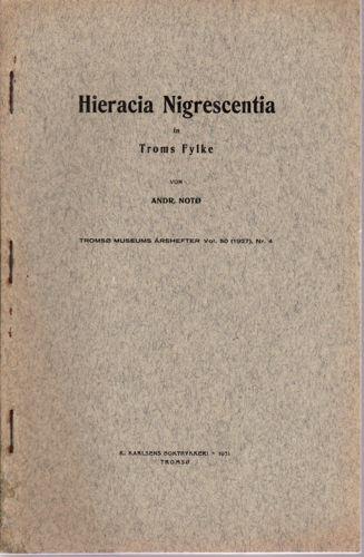 Hieracia Nigrescentia. in Troms fylke.