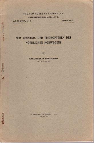 Zur kenntnis der Trichhopteren des nördlichen Norwegens.