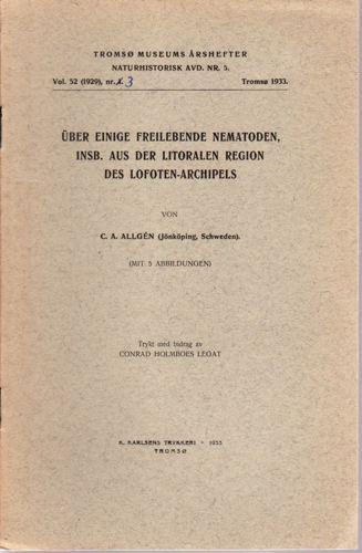 Über einige freilebende Nematoden insb. aus der Litoralen region des Lofoten-archipels.