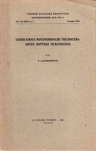 Ueber einige Hochnordische Trichoceraarten.