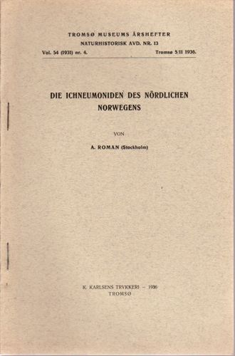 Die Ichneumoniden des nördlichen Norwegens.