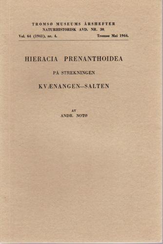 Hieracia Prenanthoidea på strekningen Kvænangen - Salten.