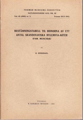 Bestämningstabell til honorna av ett antal Skandinaviska Hylemyia-arter.