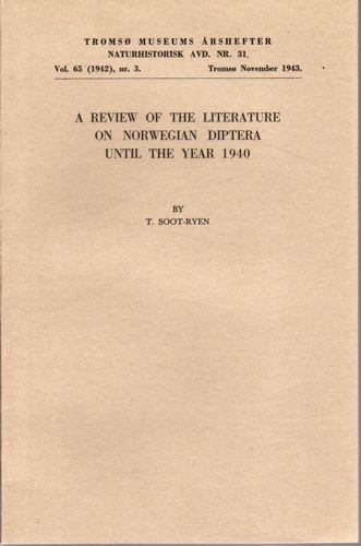 A review of the litterature on Norwegian Diptera until the year 1940.