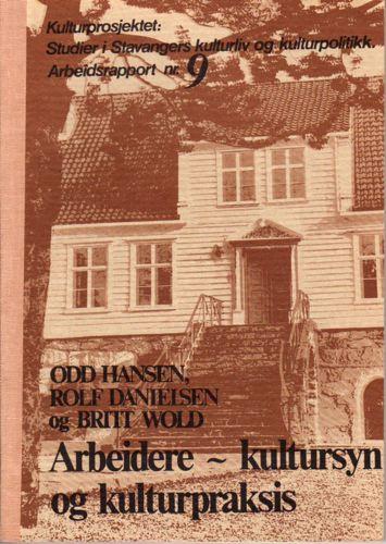 Studier i Stavangers kulturliv og kulturpolitikk.