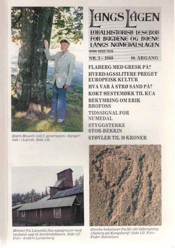 LANGS LÅGEN.  Lokalhistorisk lesebok for bygdene og byene langs Numedalslågen.