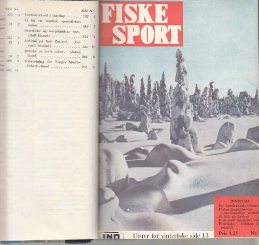 FISKESPORT.  Redaktør Sivert Aarflot. Organ for Norges sportsfiskerforbund.