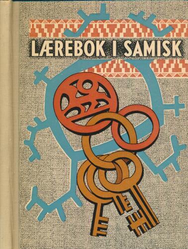 Lærebok i samisk med øvelsesstykker.