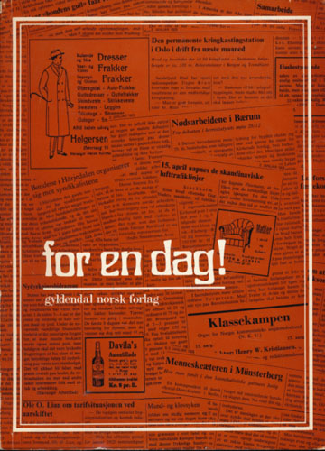 FOR EN DAG!  Klipp fra norske aviser for fredag 2. januar 1925.