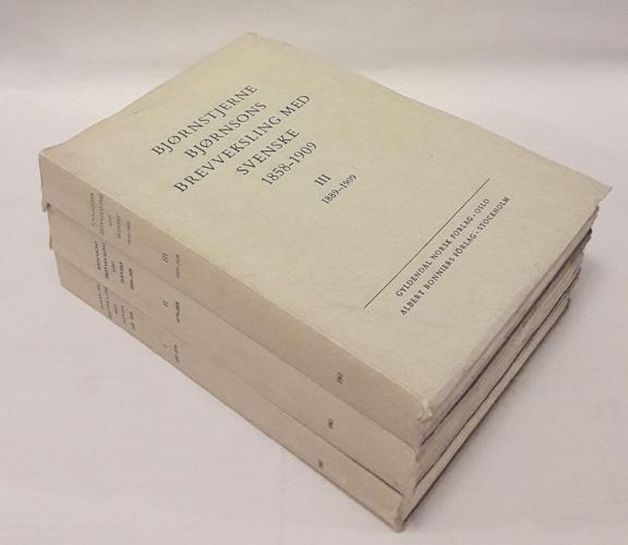 (BJØRNSON, BJØRNSTJERNE) Bjørnstjerne Bjørnsons brevveksling med svenske 1858-1909.