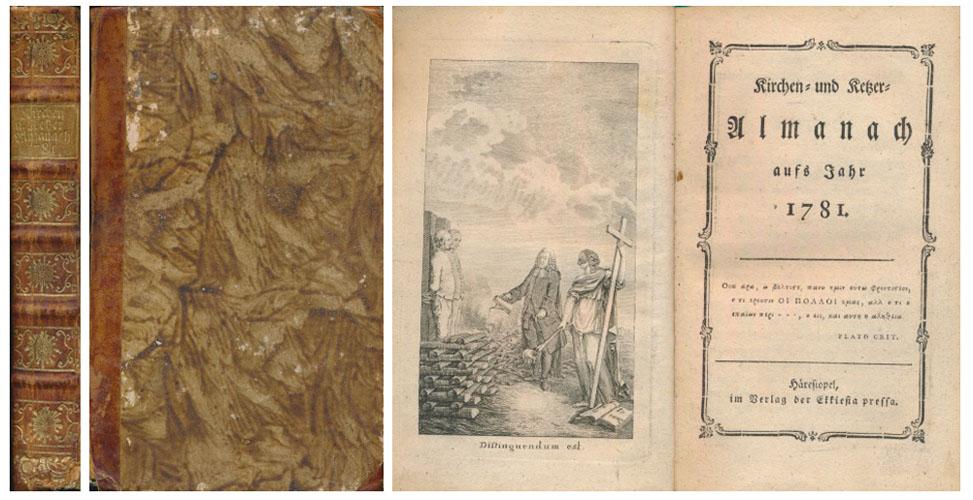 (BAHRDT, KARL FRIEDRIC:) Kirchen- und Ketzer-Almanach aufs Jahr 1781.