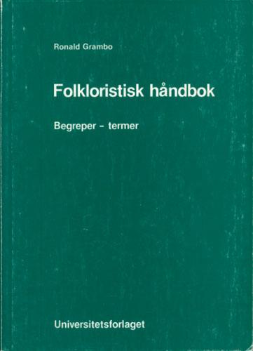 Folkloristisk håndbok. Begreper - termer.
