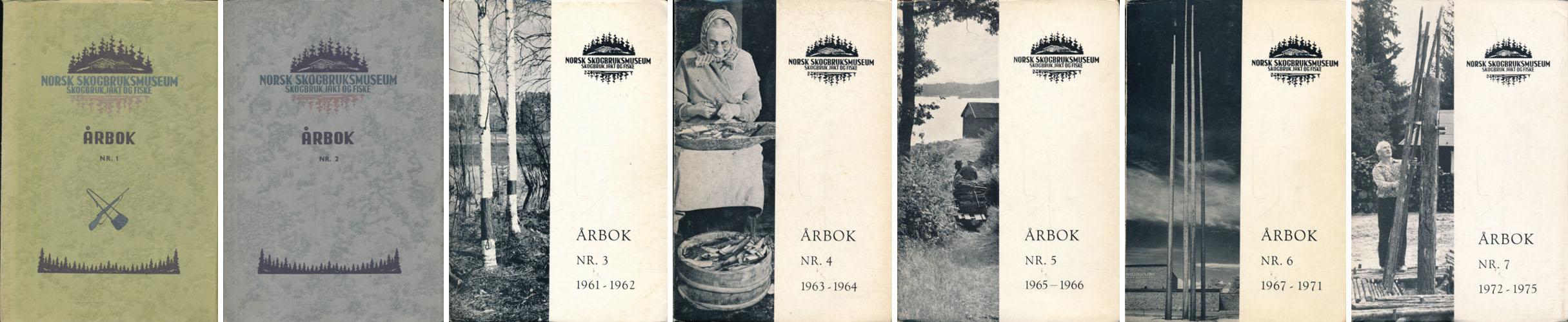 ÅRBOK FOR NORSK SKOGBRUKSBUSEUM.  Skogbruk, jakt og fiske.