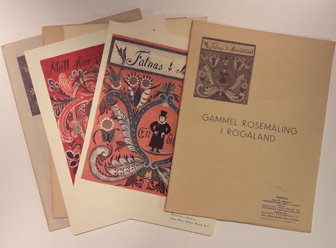 GAMMEL ROSEMALING I ROGALAND.  Samlet og tegnet av håndverkslærer Knut. K. Hovden.
