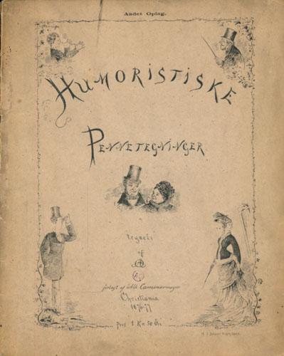 (OLSEN, ANDREAS BOHR:) Humoristiske Pennetegninger tegnede af AO.