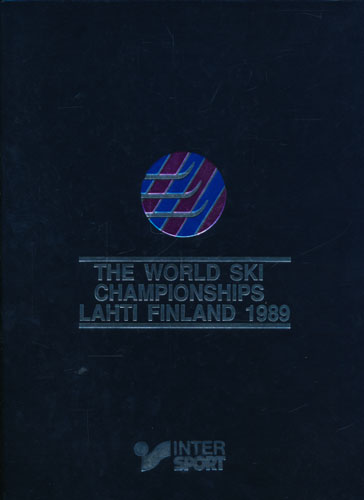 THE OFFICIAL BOOK OF THE WORLD SKI CHAMPIONSHIPS LAHTI FINLAND 1989.