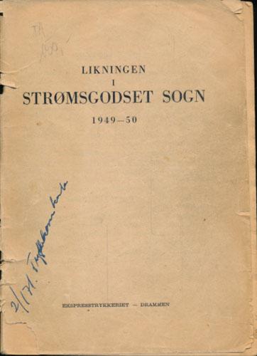 LIKNINGEN I STRØMSGODSET SOGN 1949-50.