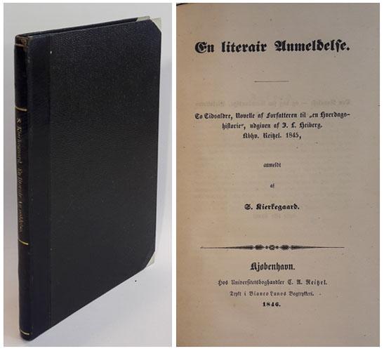 """En literair Anmeldelse. To Tidsaldre, Novelle af af Forfatteren til """"en Hverdagshistorie"""", udgiven af J.L. Heiberg. Kbhn. Reitzel. 1845, anmeldt af -."""