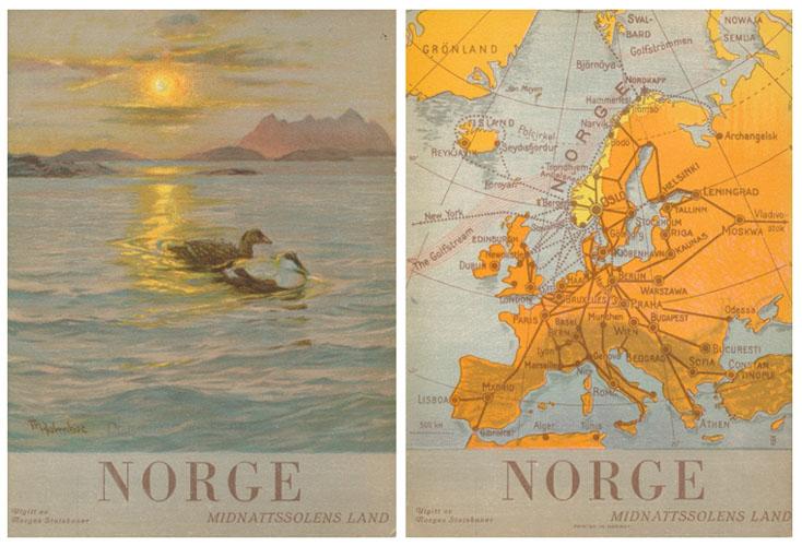 (TURISTBROSJYRE) NORGE  - Midnatssolens Land.