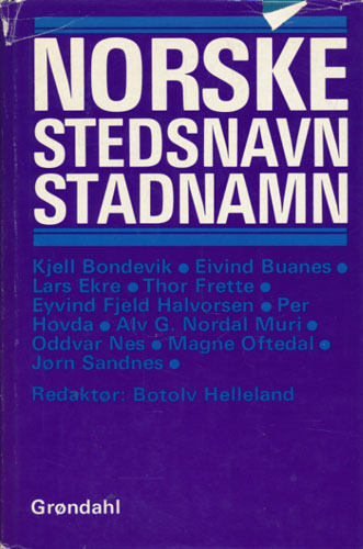 Norske stedsnavn/stadnamn.